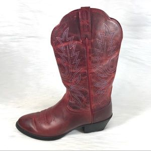 Ariat Cowboy Boots Red Western Size 6.5 B